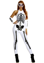 Adult Pure Bones Skeleton Woman Costume