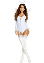 Adult Angel Woman Bodysuit Costume