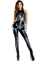 Flashy Skeleton Woman Costume