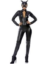 Faux Leather Woman Catsuit