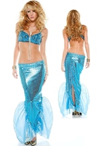 Mesmerize Sexy Turquoise Mermaid Woman Costume