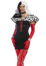 Cruella Villain Cosplay Woman Costume