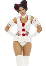 Adult Lets Play Game Movie Clown Woman Costume