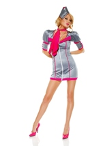 Swanky Stewardess Women Flight Attendant Costume