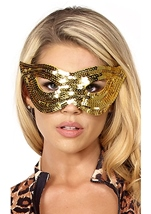 Gold Sequin Eye Mask