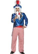 Adult Deluxe Uncle Sam Men Patriotic Costume