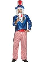 Deluxe Uncle Sam Men Patriotic Halloween Costume