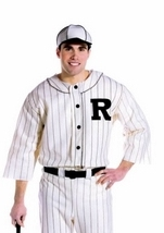 Adult Old Time Baseball Player Men Costume