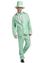 70s Funky Green Tuxedo Adult Costume