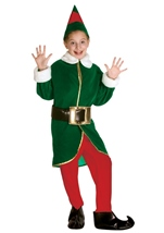 Green and Red Elf Kids Costume