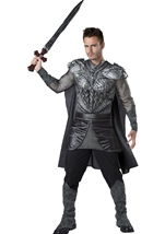 Dark Medieval Knight Men Costume
