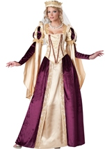 Renaissance Princess Woman Deluxe Royal Queen Halloween Costume
