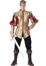 Renaissance Prince Men Deluxe Royal Prince Prestige Halloween Costume