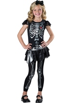 Sparkly Skeleton Girls Costume