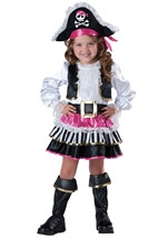 Kids Pirate Girl Deluxe Toddler Costume