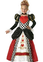 Queen of Hearts Girls Deluxe Costume