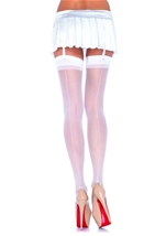 Sheer Stocking With Backseam White