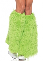 Neon Green Furry Leg Warmers