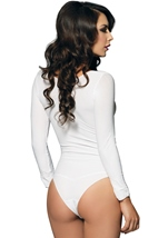 Women Opaque Long sleeved Bodysuit