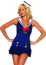 Adult Sweetheart Sailor Woman Costume