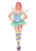 Rainbow Fairy Woman Costume