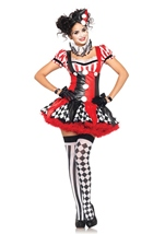 Sexy Harlequin Clown Women Circus Costume