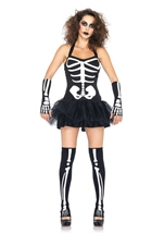 Sexy Skeleton Glow In Dark Costume