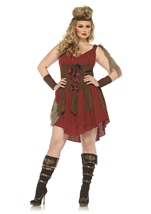Plus Deadly Huntress Women Warrior Costume
