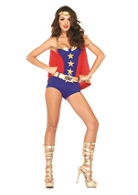 Adult Comic Book Girl Woman Superhero Costume