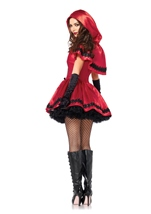 Gothic Red Riding Hood Women Fairytale Halloween Costume