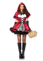 Gothic Red Riding Hood Women Fairytale Costume