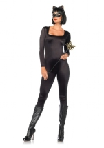 Spandex Woman Catsuit Black