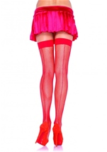 Adult Fishnet Stocking With Back Seam Black
