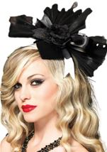 Bony Rose Velvet Fascinator Hair Clip
