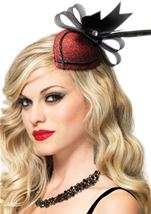 Retro Lurex Fascinator Hair Clip