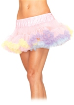 Women Petticoat Rainbow
