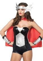 Warrior Nordic Hero Woman Costume