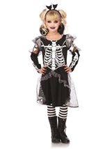 Skeleton Princess Girls Halloween Costume