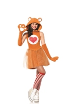 Tenderheart Bear Hooded Tween Girls Care Bears Halloween Costume