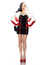 Disney Villian Cruella  Woman Deluxe Halloween Costume