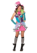 Mayhem Hatter Tween Girl Fairytale Costume