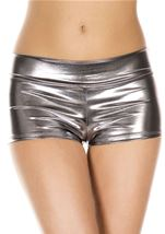 Dark Silver Banded Metallic Short