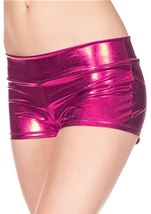 Fuchsia Banded Metallic Short