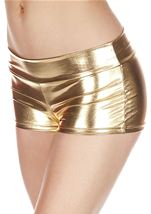 Gold Banded Metallic Short
