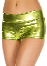 Green Banded Metallic Short