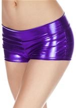 Purple Banded Metallic Short
