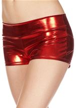 Red Banded Metallic Short