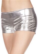 Silver Banded Metallic Short