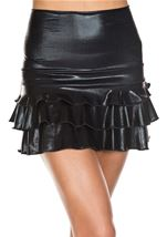 High Waisted Mini Ruffles Skirt