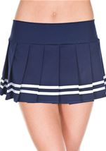 Pleated Skirt Navy Blue And White